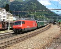 Treinen in Wallis 2004